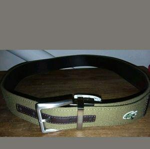 Mens Authentic Lacoste Reversible Belt - Size 36